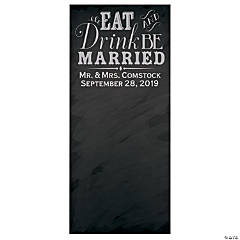 Vertical Chalkboard Wedding Photo Booth Backdrop Custom Banner