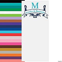 Vertical Monogram Photo Booth Backdrop Custom Banner