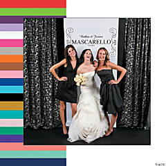 Vertical Scrollwork Photo Booth Backdrop Custom Banner