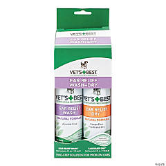 Vet's Best Ear Relief Wash & Dry 2 Pack-
