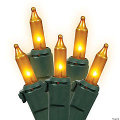 Vickerman 100 Lights Gold with Green Wire Set - 5.5