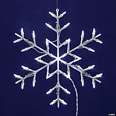 """Vickerman 16"""" Snowflake Wire Silhouette with LED Lights"""