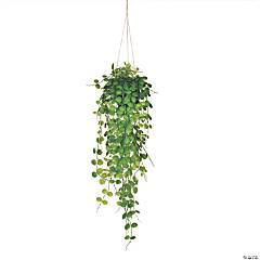 """Vickerman 29"""" Green Mini Leaf Ivy in Hanging Pot"""