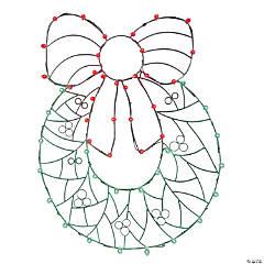 "Vickerman 48"" Multi-Colored LED Wreath and Bow Wire Silhouette"