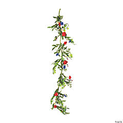 Vickerman 5' Articifial Mixed Floral Garland