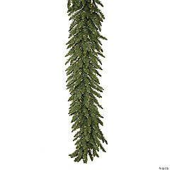Vickerman 50' Camdon Fir Artificial Christmas Garland, Clear Dura-lit Incandescent Mini Lights