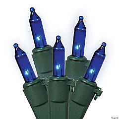 Vickerman 50 Lights Blue DuraLit with Green Wire - 5.5