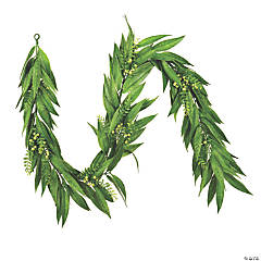 Vickerman 6' Artificial Green Willow Garland with White Berries