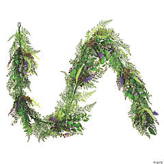 Vickerman 6' Artificial Green/Purple Maytime Garland