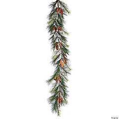 Vickerman 6' Bavarian Pine Artificial Christmas Garland, Unlit
