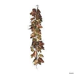 Vickerman 6' Brown Maple Garland
