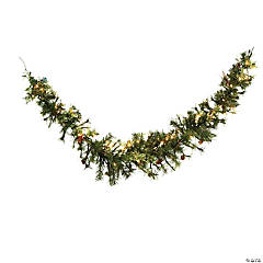 Vickerman 6' Mixed Country Pine Artificial Christmas Swag Garland, Clear Dura-lit Incandescent Lights