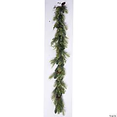 Vickerman 6' Plastic Pine/Cedar Garland with Pinecone, Unlit
