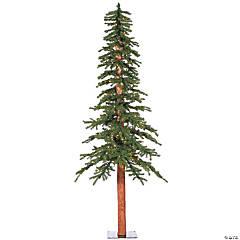 "Vickerman 7' x 42"" Natural Alpine Tree with Warm White Lights"