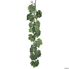 """Vickerman 72"""" Green Fig Leaf Garland"""