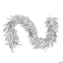 "Vickerman 75"" Snowy Cedar Garland"