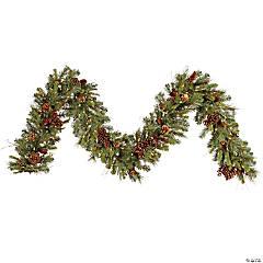 Vickerman 9' Cibola Mixed Berry Artificial Christmas Garland, Clear Dura-lit Incandescent Mini Lights