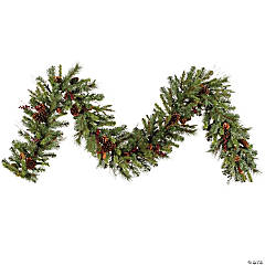 Vickerman 9' Cibola Mixed Berry Artificial Christmas Garland, Unlit
