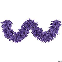 Vickerman 9' Flocked Purple Fir Artificial Christmas Garland, Unlit