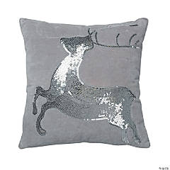 Vickerman White Silver Sequin Deer 18