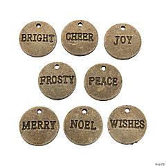 Vintage Christmas Word Charms