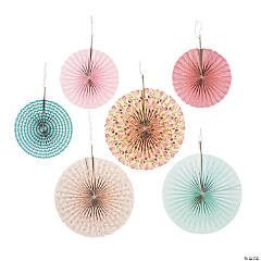Vintage Collection Hanging Paper Fan Decorations