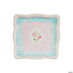 Vintage Collection Square Paper Dessert Plates - 8 Ct.