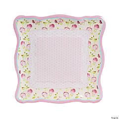 Vintage Collection Square Paper Dinner Plates - 8 Ct.