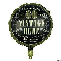 Vintage Dude 60th Birthday Metallic 18