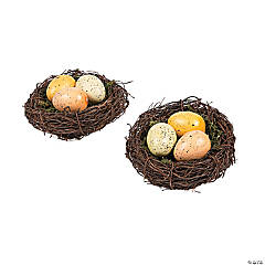 Vintage Easter Nests with Eggs