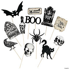 Vintage Halloween Photo Stick Props