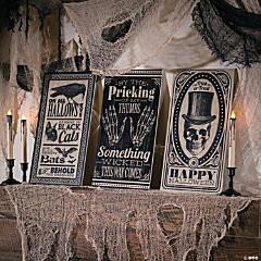 Vintage Halloween Vertical Signs