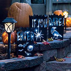 Vintage Metal Luminaries Halloween Decorations