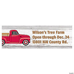 Vintage Red Truck Custom Banner - Small