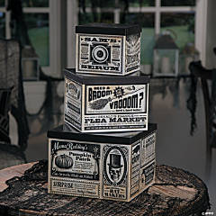 Vintage Stacking Boxes Halloween Decoration