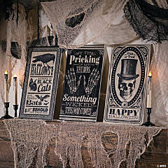 Vintage Vertical Signs Halloween Decorations