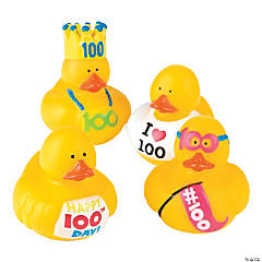 Vinyl 100th Day of School Rubber Duckies