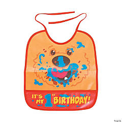 Vinyl 1st Birthday Bear Bib