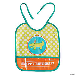 Vinyl 1st Birthday Little Alligator Baby Bib