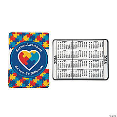 Vinyl 2016 Autism Awareness Wallet Card Calendars