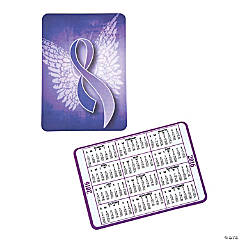 Vinyl 2016 Purple Ribbon Wallet Card Calendars