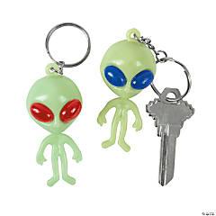 Vinyl Alien Keychains