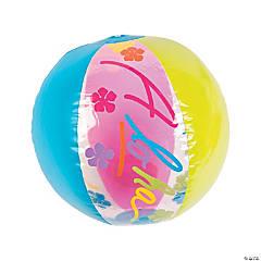 Vinyl Aloha Beach Balls