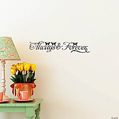 Vinyl Always & Forever Wall Decals