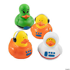 Vinyl Astronaut/Space Alien Rubber Duckies