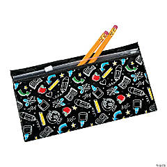 Vinyl Black & White Magnetic Pencil Cases