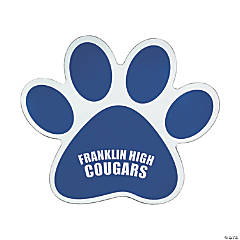 Vinyl Blue Paw Print Personalized Car Magnets