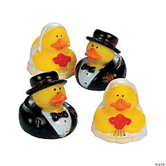 Vinyl Bride And Groom Rubber Duckies