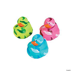 Vinyl Bright Camo Rubber Duckies