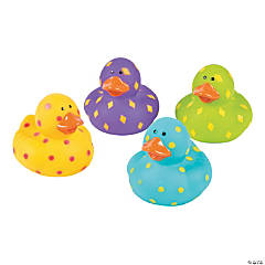 Vinyl Bright Pattern Rubber Duckies